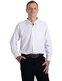 Meerway Camisa para Hombre de Manga Larga Formal Camisas clásicas de  Negocios de Ocio Regular fit 0743f6aa8a5