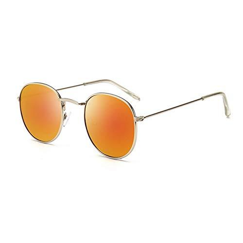 Sonnenbrille Retro Runde Sonnenbrille Frauen Männer Designer Sonnenbrillen Für Frauen Legierung Spiegel Sonnenbrille Kleine Gesicht Weiblich Silber Rot