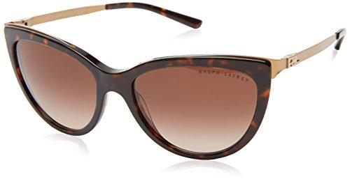 Ralph lauren 0rl81600313, occhiali da sole donna, marrone (dark havana/browngradient), 56