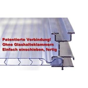 Aluminium Gewächshaus Typ F2 - 3,50 m² - 6 mm starke Hohlkammerscheiben