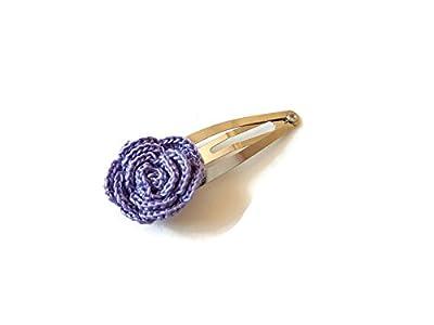 Pince à cheveux violet rose fait main crochet cheveux accessoires cadeau pour sa nature fleur