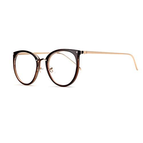 Hibote Männer Frauen Cat Eye Brille - Klare Linse Brillengestell - Mode Brillen Eyewear - 18082301
