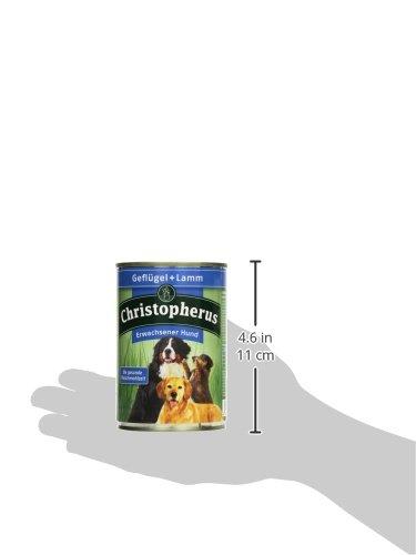 Christopherus Alleinfutter für Hunde, Nassfutter, Erwachsener Hund, Geflügel/ Lamm, Fleischmahlzeit 400 g - 5