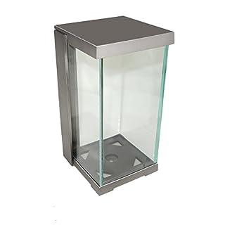 Grablaterne, Grablampe A0677 Aluminium Glaszylinder (Glas weiß)