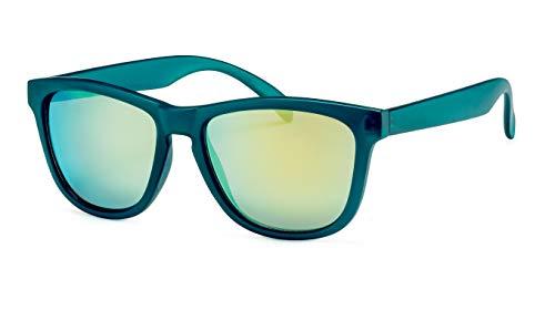 Filtral Eckige Sonnenbrille/Gelb-grün verspiegelte Unisex Sonnenbrille im sportlichen Stil F3021119