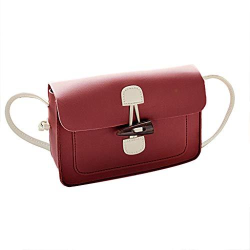 Linkay Damen Tasche, Handtasche Neuer HeißEr Verkauf Wild Einfacher Allzweck UmhäNgetasche Kleine Quadratische Rucksack Mode 2019-Rot