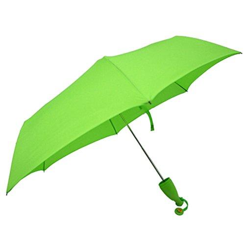 Koreyoo Kreatives Black Friday Leichtes Windundurchlässiges Bananen Regenschirm, Teleskop Kompakt Regenschirm Regenschirm, Outdoor Regenschirm Grün
