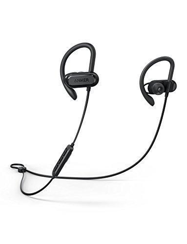 Foto Anker Auricolari sportivi Soundcore Spirit X, Cuffie wireless, Bluetooth 5.0, fino a 12 ore di Autonomia della Batteria, Tecnologia IPX7 SweatGuard, Secure Fit per Sport e Allenamenti