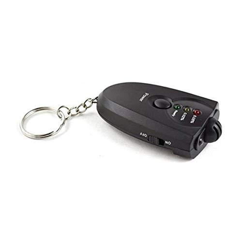 Monlladek Mini tragbare Alkohol Tester Alkoholtester mit Schlüsselanhänger Alkohol-Atem-Analysator Rotlicht LED-Taschenlampe Display