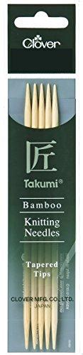 Clover 3794 Nadelspiel Bambus Takumi 12,5 cm, 2,75 mm