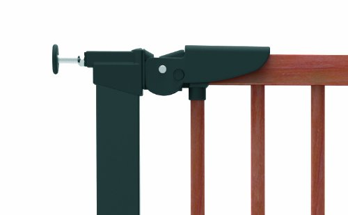 BabyDan Pressure Avantgarde Gate Hanger for door/Staircase 71,3-110,6cm Cherry/Black  Simple to build and comes complete with all fixings Made of metal and moved by a pressure fixing system Includes stop pins for mounting at the top of stairs 3