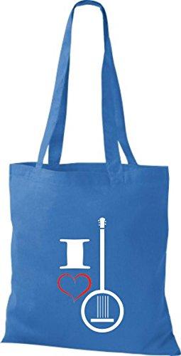 Shirtstown, Borsa tote donna Blu (Blu)