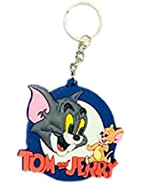 Tom And Jerry Cat Mouse Animal Cartoon Movie Character Rubber Keychain | Keyring | Key Ring For Car Bike Home...