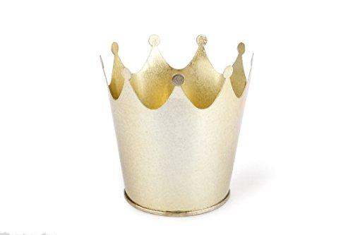Schreiber Deko Krone aus Metall/Frabe Gold/Ø 9cm Höhe:10 cm / 6 Stück