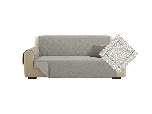 Kasa Shop Outlet Sofabezug/Sofabezug Deluxe gepolstert, wendbar Doubleface Sofaüberzug (Borbone Azzurro, Sofa 3-Sitzer)