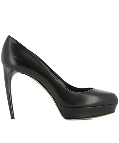 Alexander-McQueen-Womens-482166WHMU01000-Black-Leather-Pumps