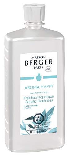 MAISON BERGER - Ricarica fragranza Lampe Berger per diffusore di Oli profumati, 500 ml 16.9 Fluid Ounces - 500 milliliters Freschezza acquat