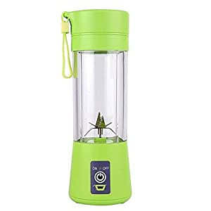 Mini Blender,Household Portable Juicer Cup 380ML Fruit Juice Extractor and Mixer with USB Rechargeable and 6 PCS Blades for Home Outdoor ,Energy Effciency Class: A+++(Green)