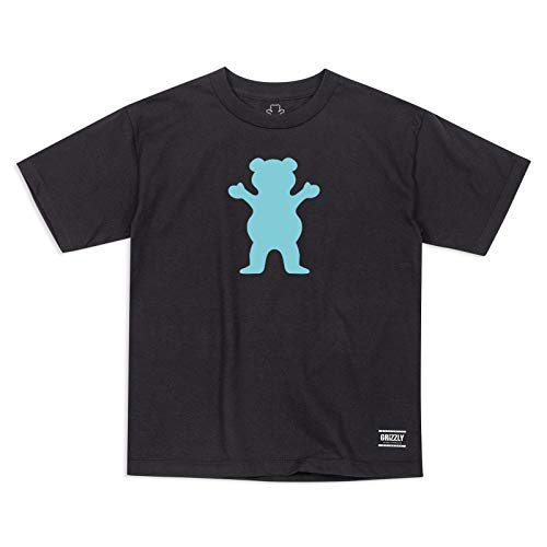 Grizzly Kinder T-Shirt OG Bear Logo (Black) L