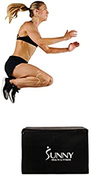 """Sunny Health & Fitness Unisex Adult NO. 085 3 In 1 Weighted Pro-plyo Box With Height Adjustment (30""""/"""