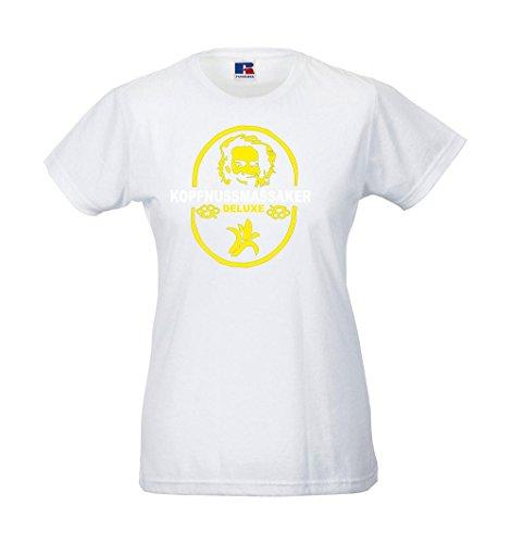Girlie-Shirt - Kopfnussmassaker Weiß