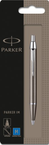 parker-im-chrome-trim-ballpoint-pen-with-medium-nib-blister-pack-gunmetal