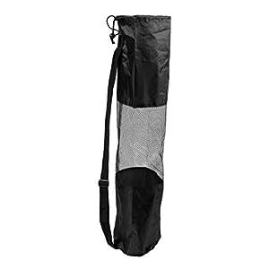 SODIAL(R) Tragbare schwarze Tasche fuer Pilates Yogamatte