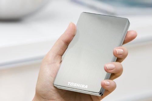 Toshiba PA4236E-1HE0 STOR.E Alu 2S 500GB externe Festplatte (6,4 cm (2,5 Zoll), USB 3.0) silber