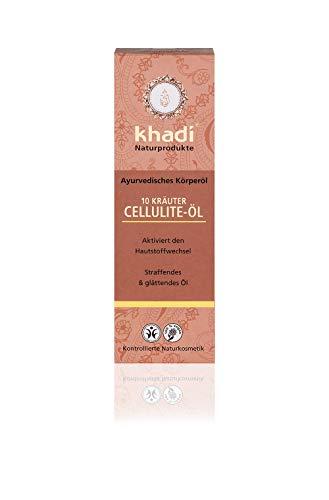 khadi 10 Kräuter Cellulite Körperöl 100ml I Anti-Cellulite-Öl für straffe Haut I Naturkosmetik 100% pflanzlich -