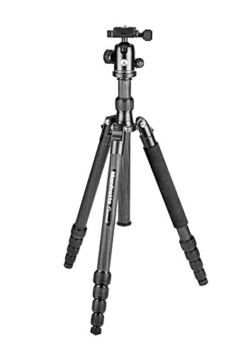 Manfrotto MKELEB5CF-BH Element Traveller Treppiede in Carbonio, Grande, Nero