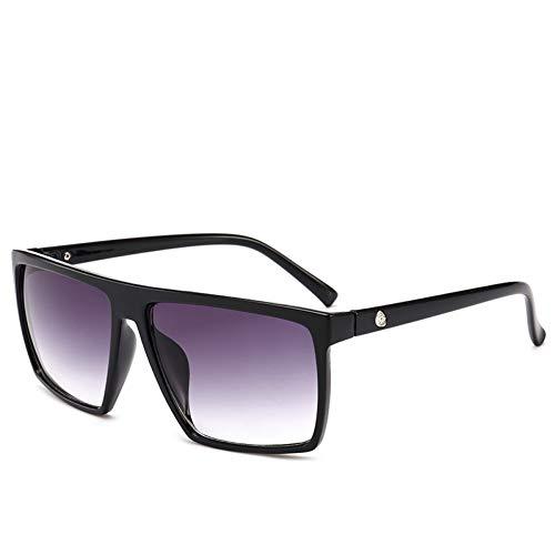 ZRTYJ Sonnenbrille Quadratische Sonnenbrille Männer Markendesigner Spiegel Übergroße Sonnenbrille Männliche Sonnenbrille Für Mann