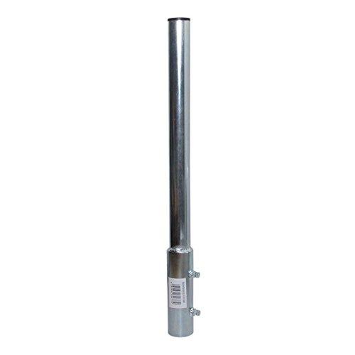 PremiumX Mastverlängerung 100 cm Ø 48 mm Stahl Mastaufsatz Antennenmast Verlängerung Sat-Mast-Halter mit Mastkappe -