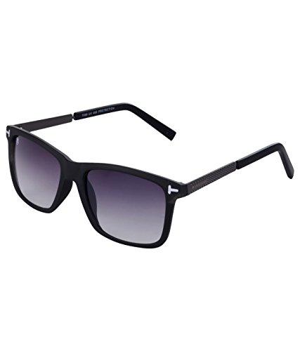 MarkQues Avenue Wayfarer Sunglasses (Black) (AV-550101GR)