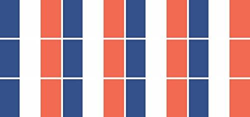 Pack glatt - 50x31mm - selbstklebender Sticker - Fahne - Frankreich - Flagge / Banner / Standarte fürs Auto, Büro, zu Hause und die Schule - 12 Stück ()