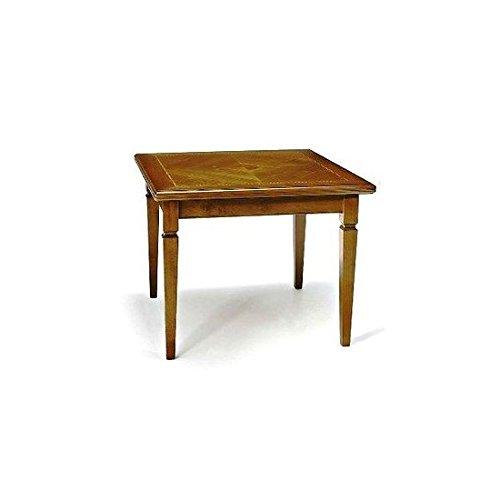 Esteamobili - tavolo quadrato allungabile intarsiato arte povera - 228