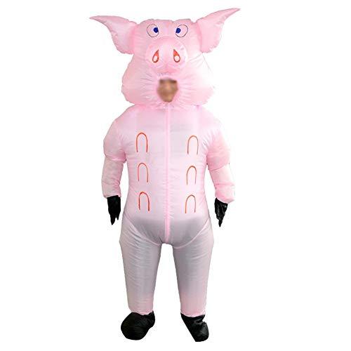 Schwein-Kostüm, Karikatur-Overall für Festival-Feier-Halloween-Cosplay-Partei-Weihnachten ()