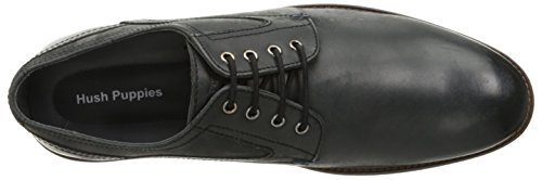 Hush Puppies Mens Rohan Rigby Oxford Black Leather