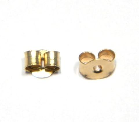 Arranview Jewellery Paire de petits fermoirs papillon pour boucles d'oreilles Or 9 carats 3mm