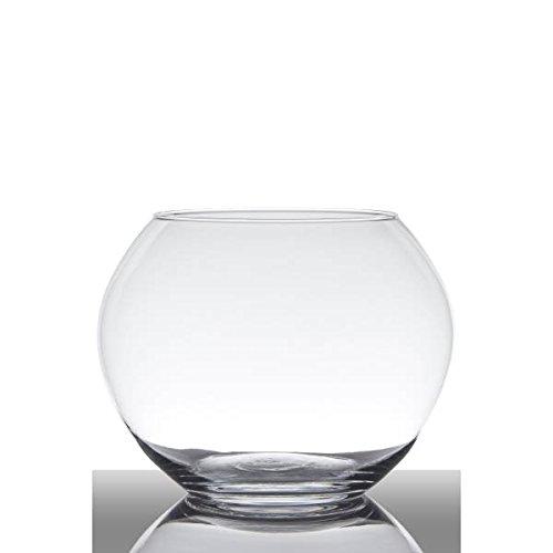 Hakbijl Kugelvase, Dekoglas Ball H. 19cm D. 25cm transparent rund Glas
