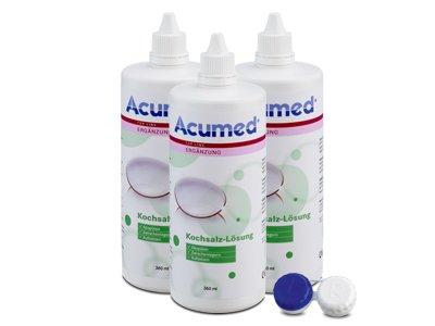 Acumed Kochsalzlösung 3er Set 3x360ml, 1 Behälter