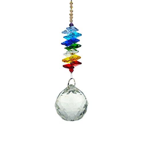 Feng Shui 40mm transparente bola de cristal colgante Rainbow Maker C