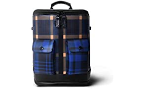 Captain - Zip Around Backpack (Mini) - Scottish Tartan Yellow and Blue