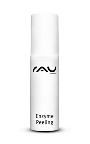RAU Enzyme Peeling 5 ml - Deeply Cleansing & Anti-Wrinkle Enzymatic Face Peel - with Fruit Acid, Squalane and Shea Butter - Anti-Ageing Face Scrub - For Acne, Keratosis Psoriasis Oily Mature Dry Skin - Mini Travel Size