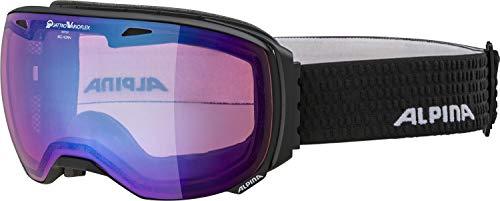 ALPINA Erwachsene Big Horn QVMM Skibrille, Black-matt, One Size