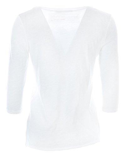 Damen Shirt Dreiviertelarm Weiß