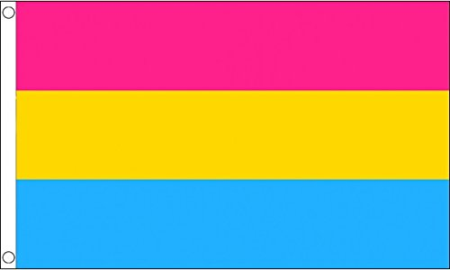 Flagge Material (5ft x 3ft (150x 90cm) pansexual Pride 100% Polyester Material Flagge Banner Ideal für Pub Club Festival Business Party Dekoration)