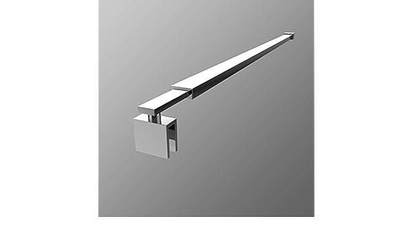 Meykoe Haltestange f/ür Duschw/ände Stabilisator Dusche Duschwand Stabilisierungsstange Edelstahl 700-1200mm Eckig