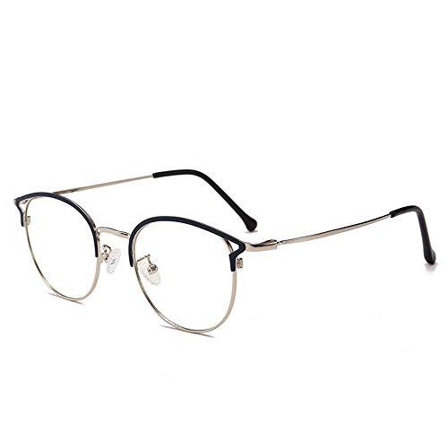 CHUIX Blaues Licht, das Gläser blockiert, Blendschutz-klare Linse UV-Schutz, der Ermüdung der Augen-Beanspruchung blockiert, die besseren Schlaf unterstützt,blacksilver