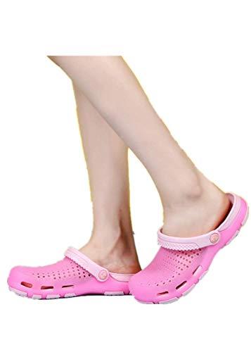 Aoweika Unisex-Erwachsene Classic U Clogs Hausschuhe Muffin Unten Alltägliche Drag Pantolette Sommer Beach Schuhe Sandalen für Damen Herren Zebra Design Pc