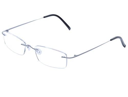 DEDING Titan randlose Brille (Silber)